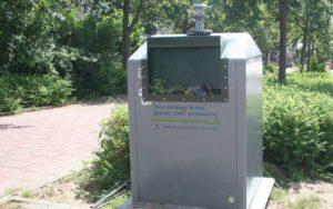 afvalcontainer op slot